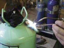 Вакуумирование баллона вакуумным насосом фирмы